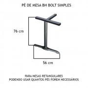 Pé De Mesa BH Bolt Simples  - FUNDIÇÃO VESUVIO