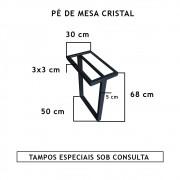 Pé De Mesa Cristal  - FUNDIÇÃO VESUVIO
