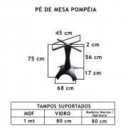 Pé De Mesa Pompéia   - FUNDIÇÃO VESUVIO