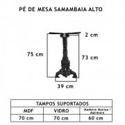 Pé De Mesa Samambaia Alto   - FUNDIÇÃO VESUVIO