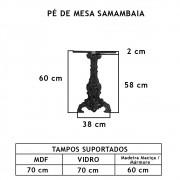 Pé De Mesa Samambaia   - FUNDIÇÃO VESUVIO