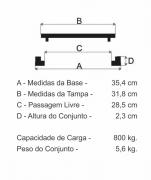 Tampão Caixa De Gordura (32Cm) Em Ff  - FUNDIÇÃO VESUVIO