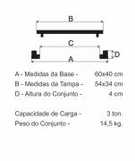 Tampão Incêndio Simples (60X40Cm) Em Ff  - FUNDIÇÃO VESUVIO