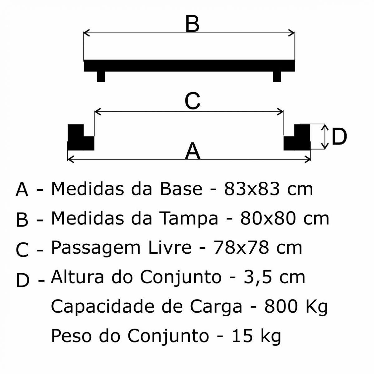 Tampão 80X80Cm Simples Em Af - FUNDIÇÃO VESUVIO