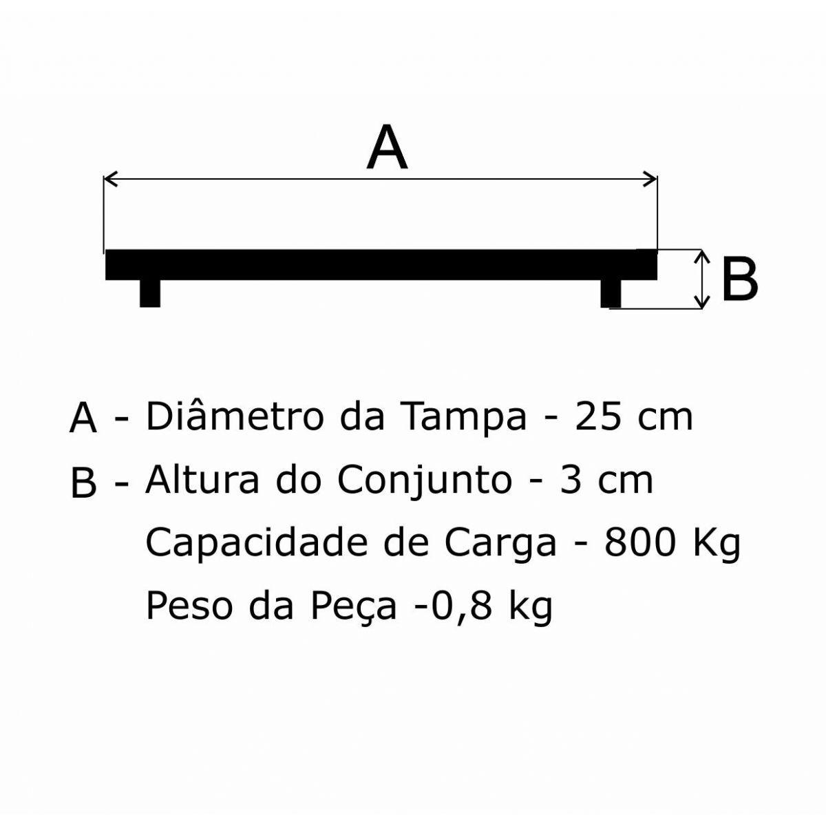 Tampão T 250Mm Esgoto Ta Em Af - FUNDIÇÃO VESUVIO