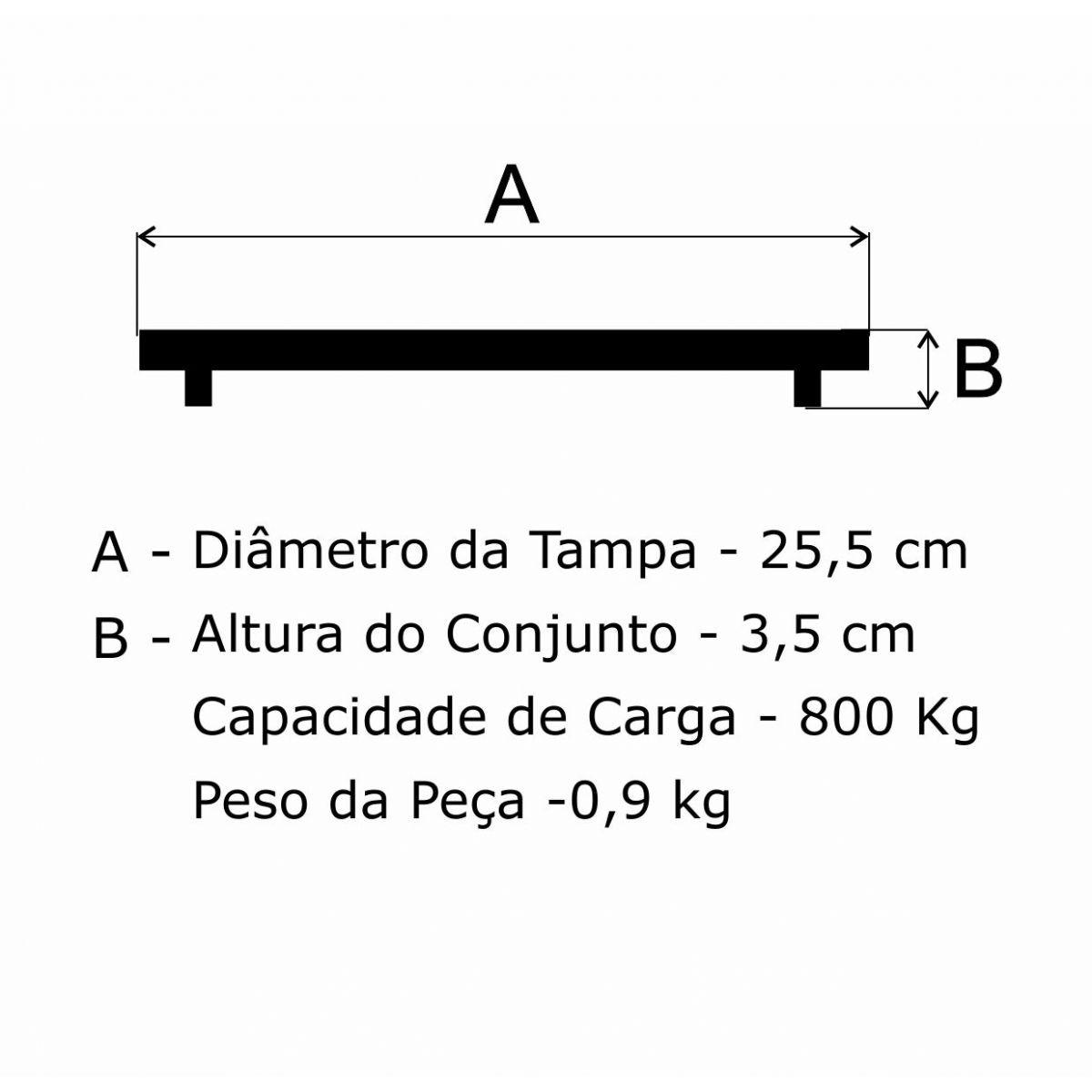 Tampão T 255Mm Esgoto He Em Af - FUNDIÇÃO VESUVIO