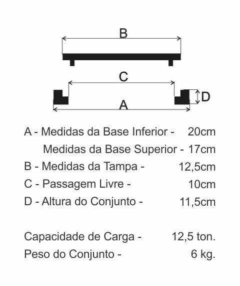 Tampão T9 Cl125 (12,5Cm) Para Registro Em Ffn - FUNDIÇÃO VESUVIO
