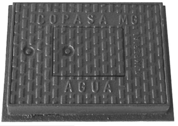 Tampão T-22 Para Água Com Taramela E Parafuso (28X39Cm) Em Ff - FUNDIÇÃO VESUVIO