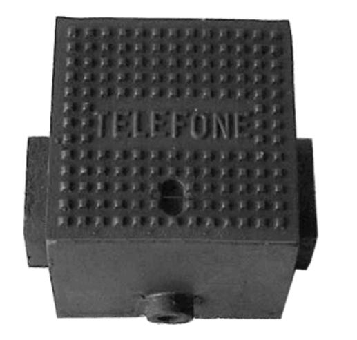 Caixa P20 Com Corrente Para Telefone (21X21Cm) Em Ffn - FUNDIÇÃO VESUVIO