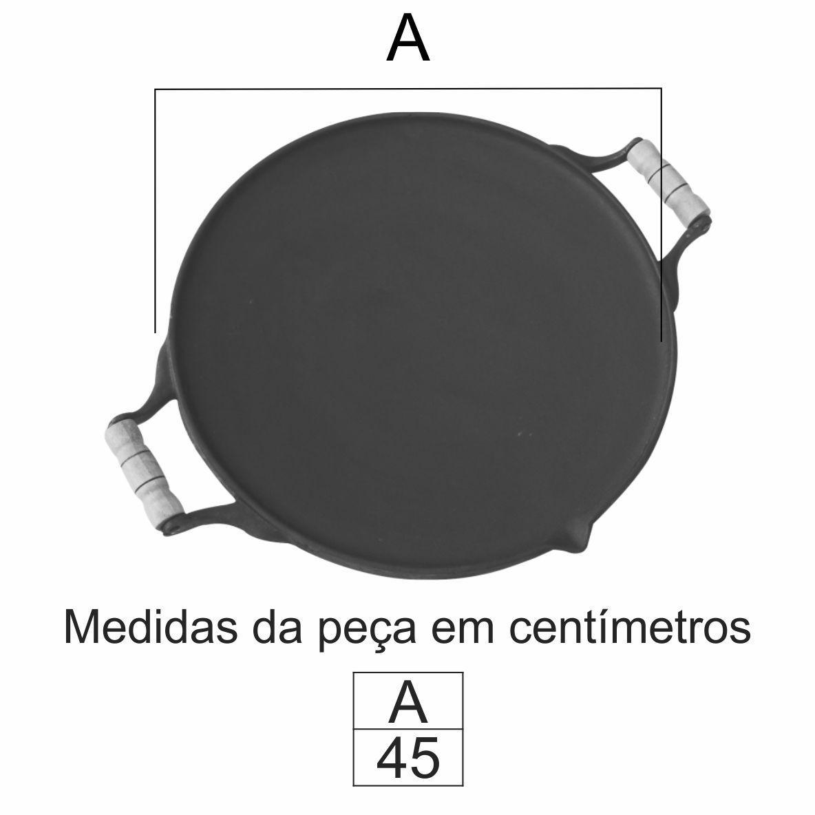 Chapa Picanheira 45Cm Em Ff - FUNDIÇÃO VESUVIO