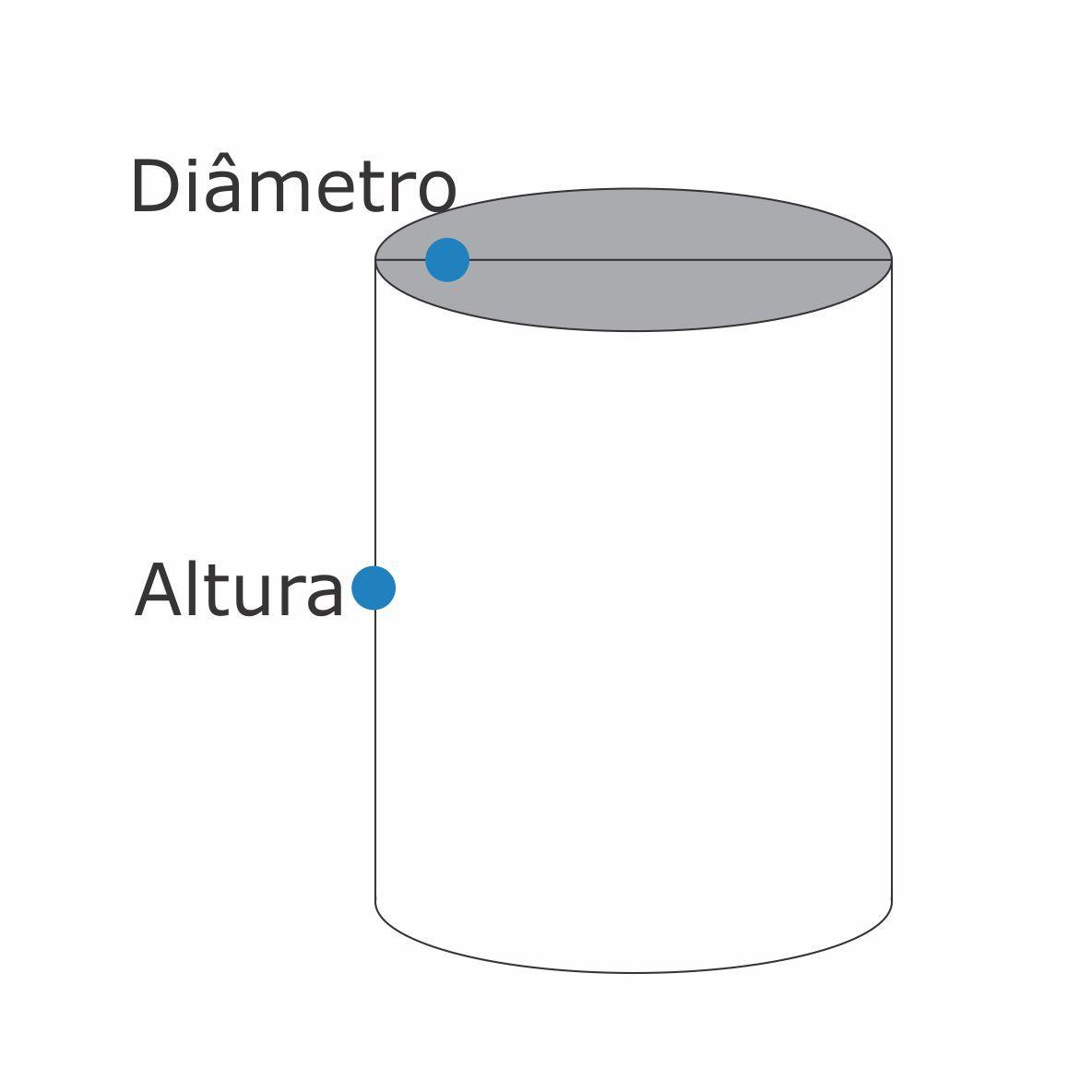 Poste Solarium Reto C/ 1 Globo C/ 2Mt De Altura - FUNDIÇÃO VESUVIO