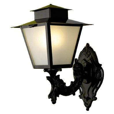 Luminária Colonial Quadrado Com Chapéu 04 - FUNDIÇÃO VESUVIO