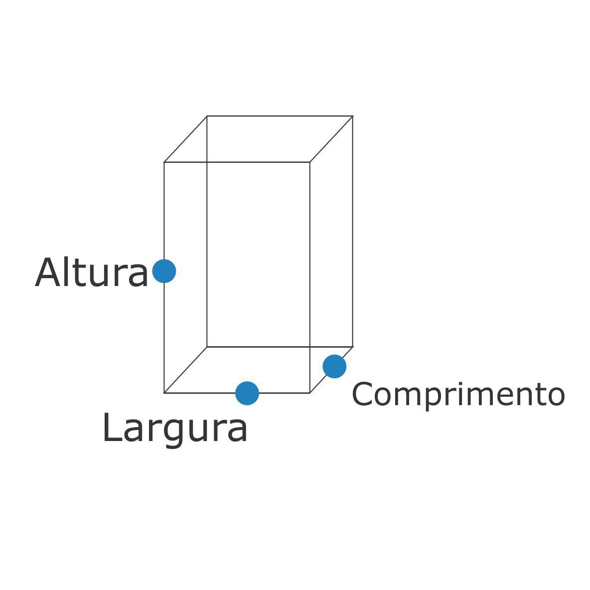 Balizador Colonial Quadrado Com Chapéu 50Cm - FUNDIÇÃO VESUVIO