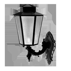 Luminária Colonial Sextavada - FUNDIÇÃO VESUVIO