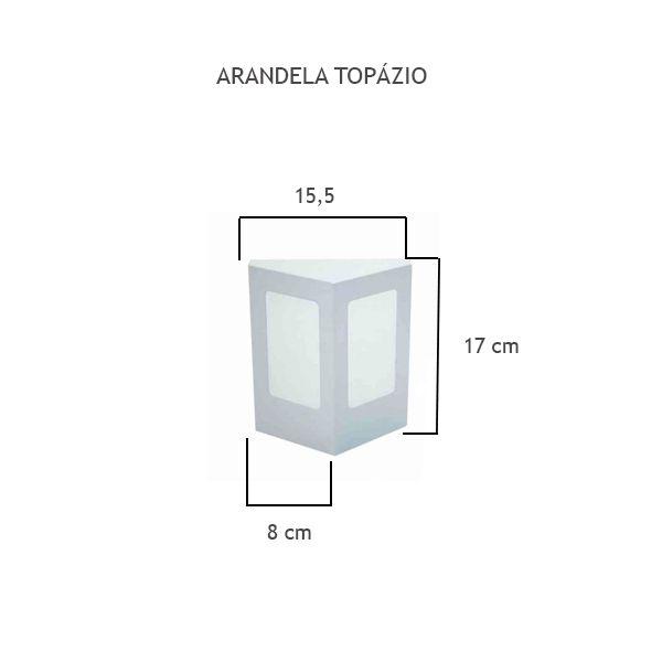 Arandela Topázio - FUNDIÇÃO VESUVIO