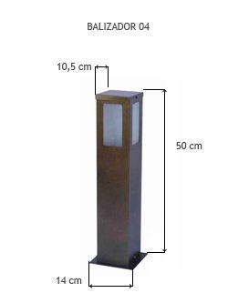 Balizador 04 50 Cm - FUNDIÇÃO VESUVIO