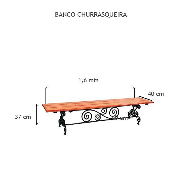Banco Churrasqueira - FUNDIÇÃO VESUVIO