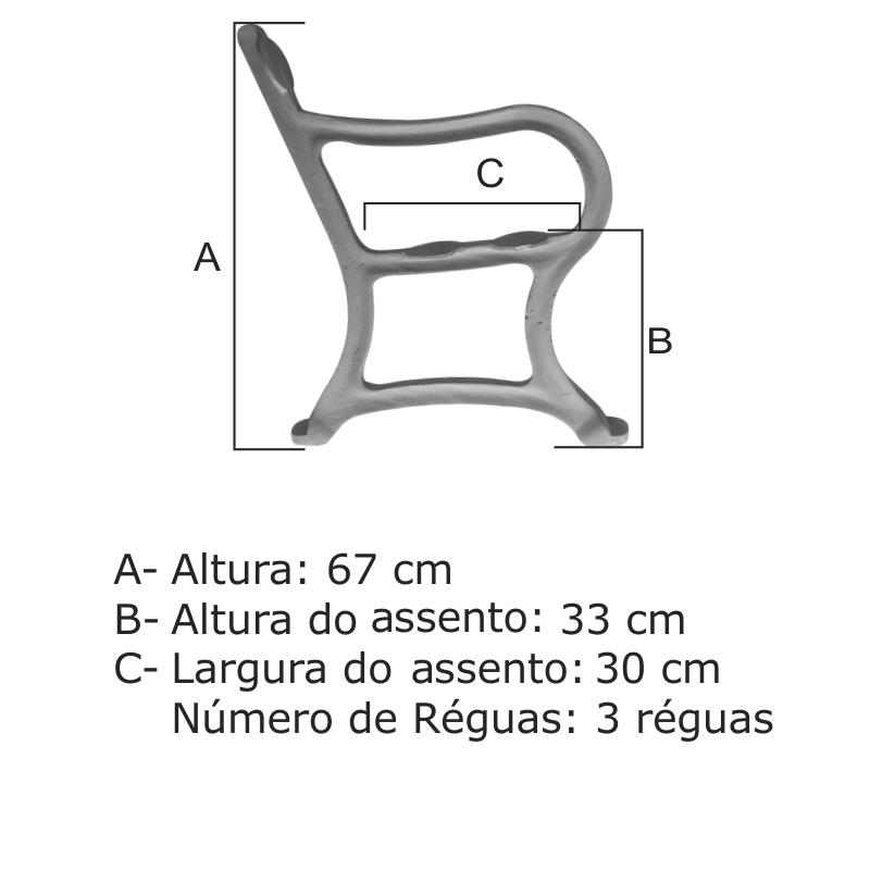 Banco Estação 03 Réguas - FUNDIÇÃO VESUVIO