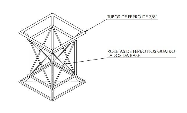 Base de Mesa Senado Federal em ferro conforme desenho - FUNDIÇÃO VESUVIO
