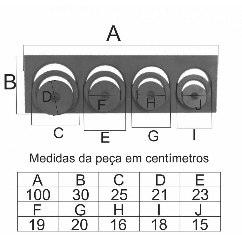 Chapa Para Fogão 4 Furos Com Redução Reta Completa (30X100Cm) - FUNDIÇÃO VESUVIO