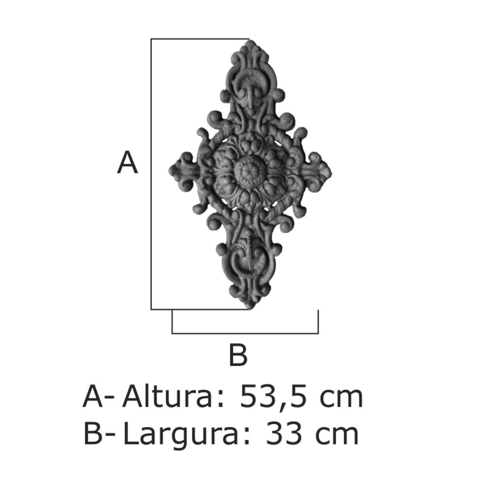 Florão Nº 13 - FUNDIÇÃO VESUVIO