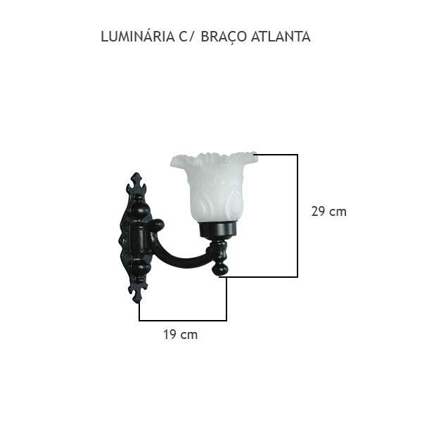 Luminária Com Braço Atlanta - FUNDIÇÃO VESUVIO