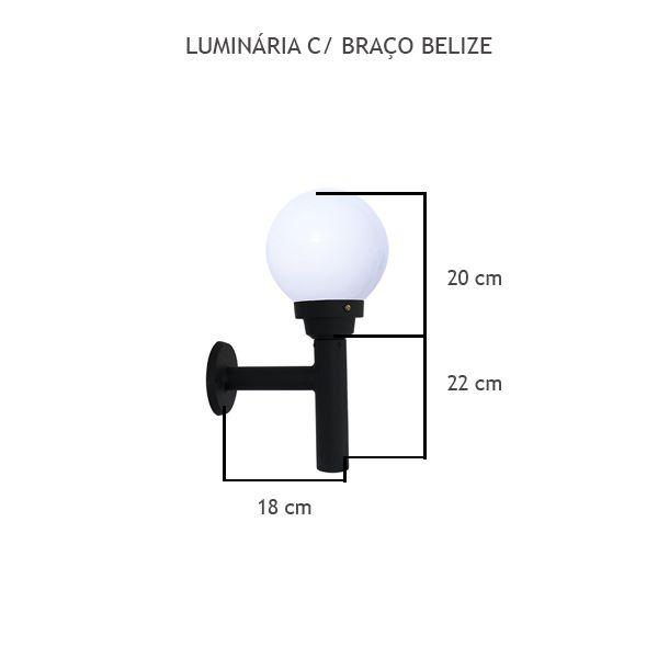 Luminária Com Braço Belize - FUNDIÇÃO VESUVIO