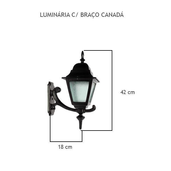 Luminária Com Braço Canadá - FUNDIÇÃO VESUVIO