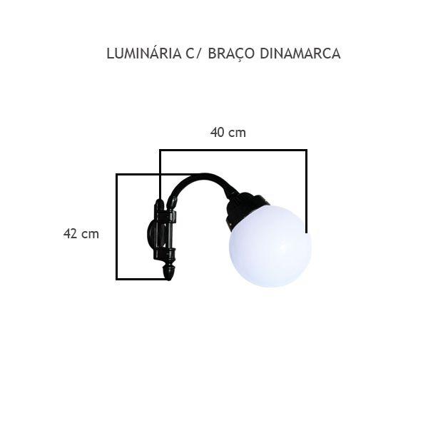 Luminária Com Braço Dinamarca - FUNDIÇÃO VESUVIO