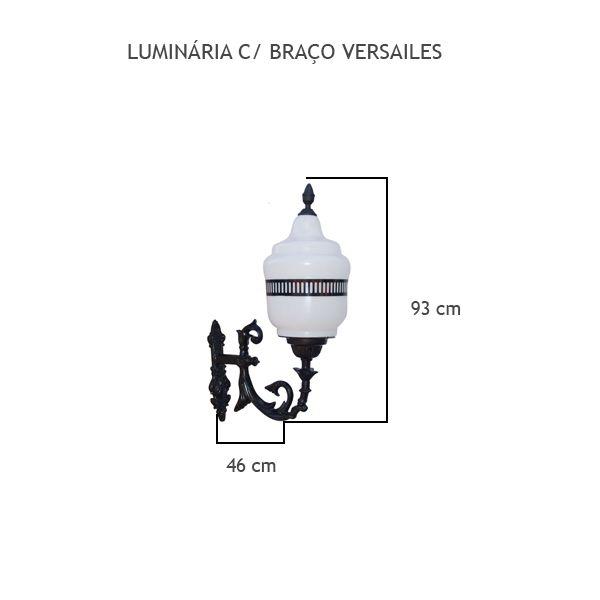 Luminária Com Braço Versailes - FUNDIÇÃO VESUVIO