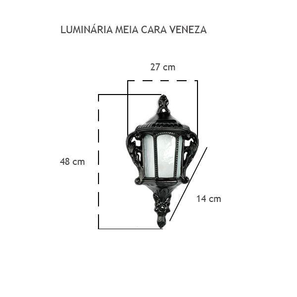 Luminária Meia Cara Veneza - FUNDIÇÃO VESUVIO