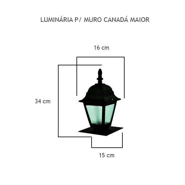 Luminária Para Muro Canadá Maior - FUNDIÇÃO VESUVIO