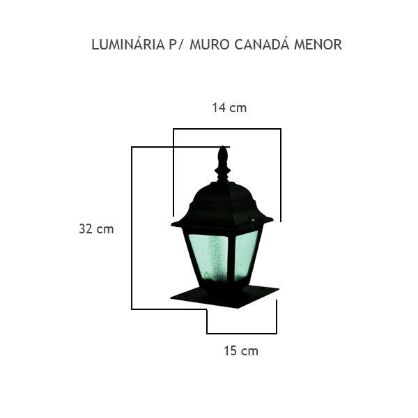 Luminária Para Muro Canadá Menor - FUNDIÇÃO VESUVIO