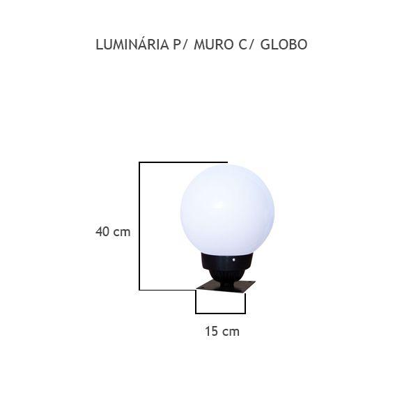 Luminária Para Muro Com Globo - FUNDIÇÃO VESUVIO