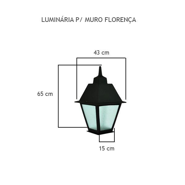 Luminária Para Muro Florença - FUNDIÇÃO VESUVIO