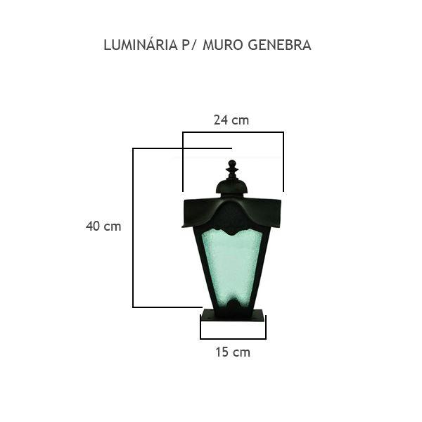 Luminária Para Muro Genebra - FUNDIÇÃO VESUVIO