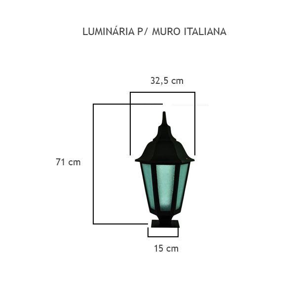 Luminária Para Muro Italiana - FUNDIÇÃO VESUVIO