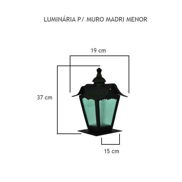 Luminária Para Muro Madri Menor - FUNDIÇÃO VESUVIO