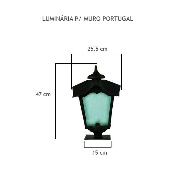 Luminária Para Muro Portugal - FUNDIÇÃO VESUVIO