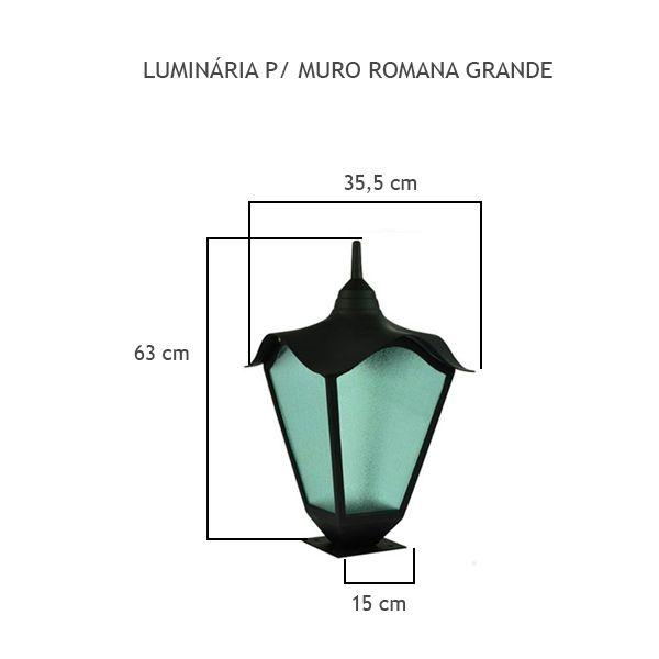 Luminária Para Muro Romana Grande - FUNDIÇÃO VESUVIO