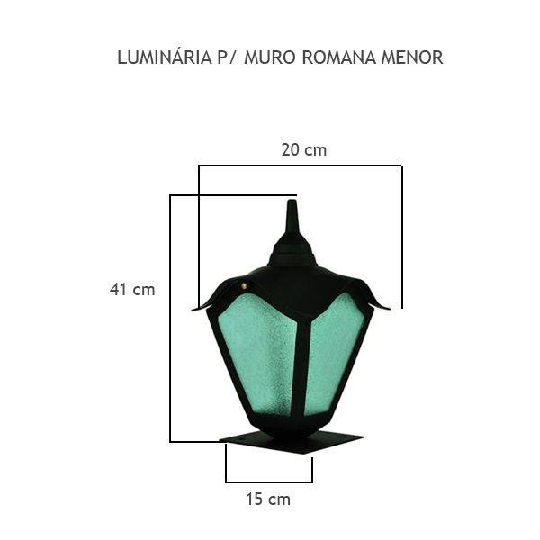 Luminária Para Muro Romana Menor - FUNDIÇÃO VESUVIO