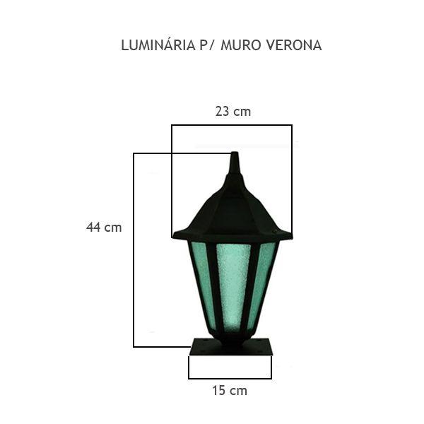 Luminária Para Muro Verona - FUNDIÇÃO VESUVIO
