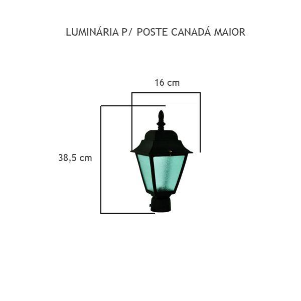 Luminária Para Poste Canadá Maior - FUNDIÇÃO VESUVIO