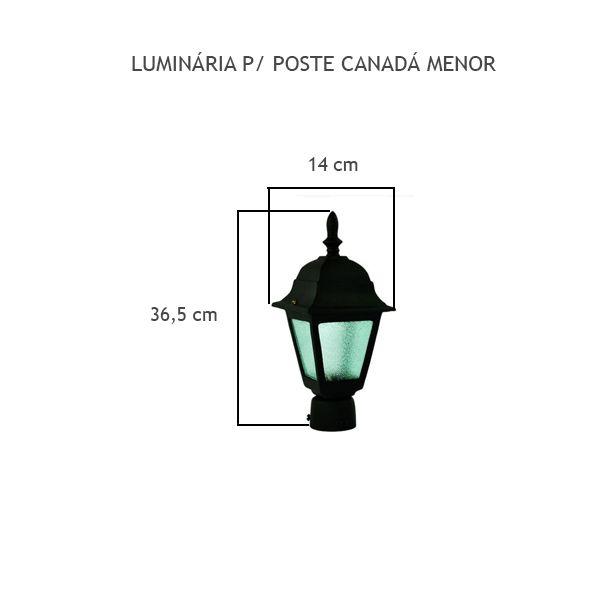 Luminária Para Poste Canadá Menor - FUNDIÇÃO VESUVIO