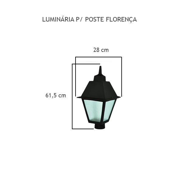 Luminária Para Poste Florença - FUNDIÇÃO VESUVIO