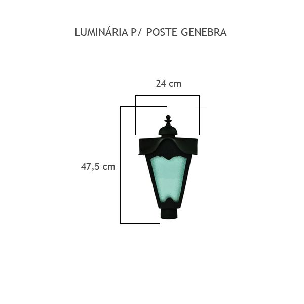 Luminária Para Poste Genebra - FUNDIÇÃO VESUVIO