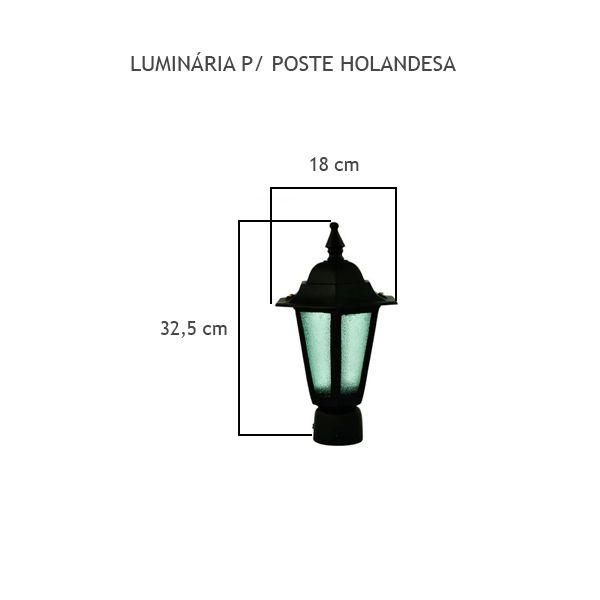 Luminária Para Poste Holandesa - FUNDIÇÃO VESUVIO