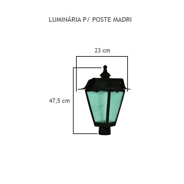 Luminária Para Poste Madri - FUNDIÇÃO VESUVIO