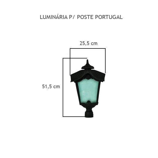 Luminária Para Poste Portugal - FUNDIÇÃO VESUVIO