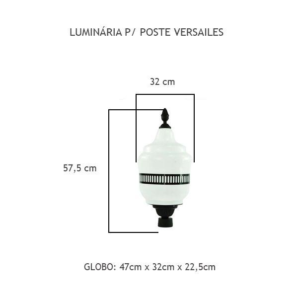 Luminária Para Poste Versailes - FUNDIÇÃO VESUVIO